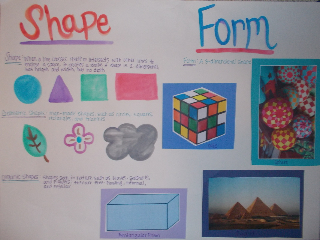 Shape Form And Space In Art : Elements of art posters brittany mcdonald